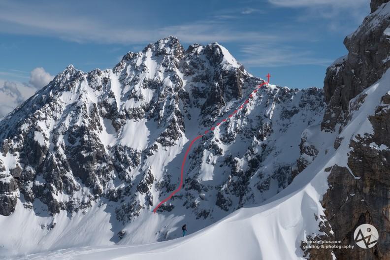 Tiefkarspitze - Steilabfahrt durch die Westrinne